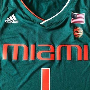 adidas Shirts - ADIDAS MIAMI AUTHENTIC BASKETBALL JERSEY BNWT